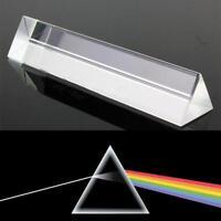 8CM Licht Spektrum optisches dreifaches  Glasprisma Physik unterrichtendes X3D8
