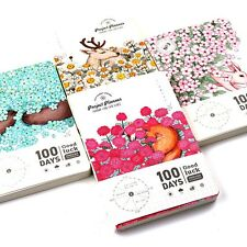"""Animal World"" 1pc 100 Days Project Planner Study Agenda Work Scheduler Notebook"