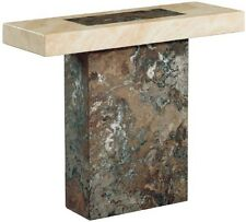 New Venice Dark Brown / Cream & Cappuccino Marble Console Table