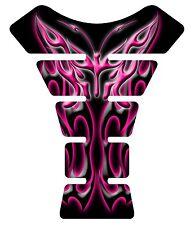 Flaming Butterfly Dark Pink Black Motorcycle Gel Gas Tank Pad Tankpad Protector