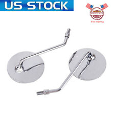 Pair For Honda 10mm Chrome Mirrors Cb 100 200/T 250 350 400 500 550 650 750