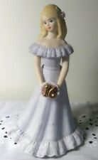 Enesco Growing Up Birthday Girls Porcelain Figurine Blonde - Age 16