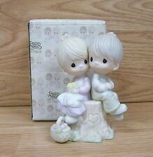 """Precious Moments (E-1376) """"Love one Another"""" 1986, Olive Branch Production Mark"""