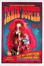 Janis Joplin Poster New Original Fillmore East Tribute S/N 100 by David Byrd COA