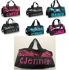 NEW Sequin PERSONALIZED Dance or Gymnast Duffle Bag  Pink Silver Turquoise