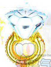 "mini engagement ring foil balloon 38cm x 26cm or 15"" x 10"" party decoration"