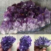 Natural Raw Amethyst Quartz Geode Druzy Crystal Cluster Healing Specimen Nice