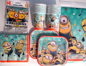 DESPICABLE ME Minions Made Birthday Party Supply Pack Kit w/ Balloons