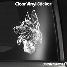 """German Shepherd Dog 5"""" Clear Gloss Decal Sticker Alsatian GSD K9 Art Print L22"""