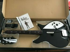 TESTED Xbox 360 Beatles Rock Band Rickenbacker Wireless Guitar Controller XBGTS5
