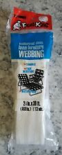 """Vintage Frost King White Lawn Furniture Webbing, 2 1/4"""" x 39', New NOS"""