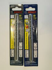 """BOSCH #LBH004 Rotary and Hammer Drill Bit,  6"""" long by 1/4"""" Lot of 2"""
