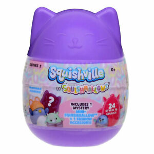 Squishmallows Squishville Mystery Minis Plush Series 2 Blind Capsule Tout Neuf