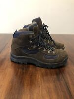 LL Bean GoreTex Waterproof Brown Leather Hiking Ankle Boots Women's Size 9M