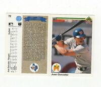 24 Count lot 1990 Upper Deck Juan Gonzalez Rookie Cards! Rangers OF! RC LOT!