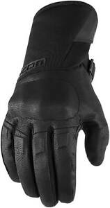 Icon Raiden Gloves - Motorcycle Street Riding Leather Textile Waterproof Mens