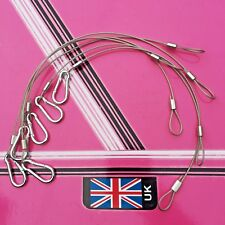 6 x Safety Wires disco lighting stage lights / with steel carabiner sprung clip