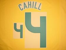 #4 CAHILL NAME NUMBER SET FOR WORLD CUP 2010 AUSTRALIA SOCCEROOS HOME JERSEY