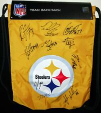 New Signed Pittsburgh Steelers Football NFL Bag Sports Backpack Pack Souvenir