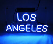"""Los Angeles Neon Sign Light Beer Bar Pub Decor Shop Home Room Wall Poster12""""x8"""""""