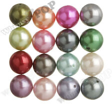 20mm Pearl Beads 12pcs MIXED Color Chunky Bubble Gum Acrylic Gumball Round Shiny