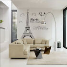 POP Paris Eiffel Tower Removable Vinyl Art Decal Mural Home Wall Sticker Decor