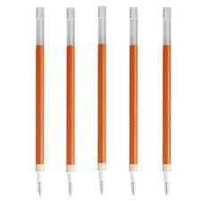 F/S MUJI JAPAN Gel ink ballpoint pen orange 0.5mm x 5 Refill