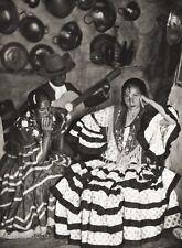 1934 Vintage 11x14 SPAIN Albayzin Flamenco Dancer Woman Dress Costume Photo Art