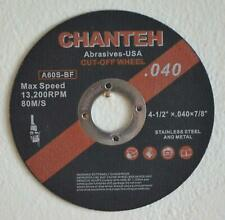 """200Pc 4.5/""""x.05/""""x7//8/"""" Stainless Metal Cutting Disc For Angle Grinder Cutoff Wheel"""