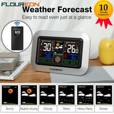 Indoor Outdoor Temperature Weather Station Humidity Tester Clock Wireless Sensor