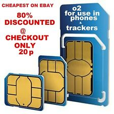 O2 Classic Sim Card  2G/3G/4G Pay As You Go  Standard Micro Nano