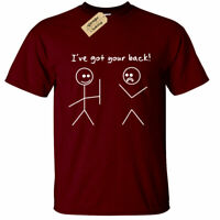 I've Got Your Back T Shirt Funny Mens stick man stick men joke gift novelty tee