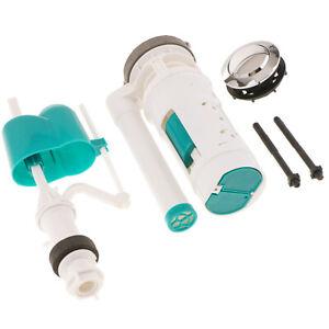 Adjustable Cistern Toilet Tank Repair Fill Valve Flush Dual Flush Button Kits #D