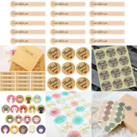 "60-120pcs /set Envelope Seals Paper Stickers ""Thank You""Wedding Favor Gift Label"