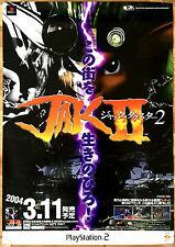 Jak II 2 rare ps2 51,5 cm x 73 cm japonais promo poster