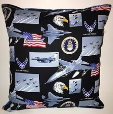 Air Force Pillow United States Air-Force Pillow Patriot Pillow HANDMADE in USA