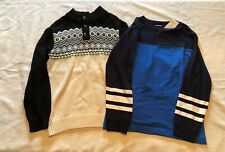 Lot of 2 Boys Gymboree Long Sleeve Sweater and Long Sleeve Shirt Size M 7/8-NWT