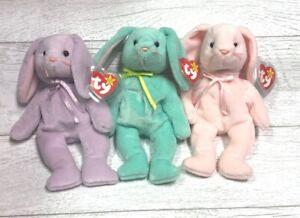Hippity Hoppity Floppity PE Easter Bunny Ty Beanie Baby Origiinal Suface Error
