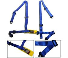 1 Blue 4 Point Racing Seat Belt Harness Fit For BMW NEW
