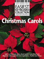 Easiest Keyboard Collection Christmas Carols Learn Play EASY Piano Music Book