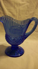 VINTAGE AVON COBALT BLUE GLASS PITCHER OR CREAMER PLANTATION MEDALLION