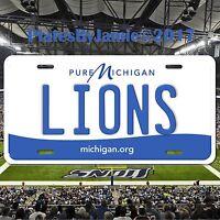 Detroit Lions Michigan Aluminum Metal License Plate Tag Football NFC NFL New
