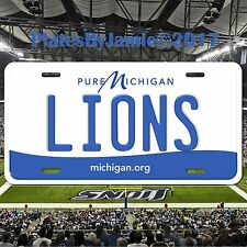 Detroit Lions Michigan Aluminum Metal License Plate Tag Football NFC NFL New