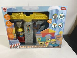 Play Crane And Construction Set New 18m+ 16 Pieces