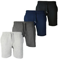 New Mens Running Shorts Summer Short Plain Front Gym Jogger Boxer Size Bottoms