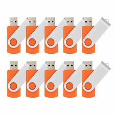 Orange 10PCS 8GB USB 2.0 Flash Drive Thumb Pen Drive Rotating Flash Memory Stick