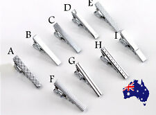 Men Boy Silver Classical STAINLESS STEEL Skinny Party Wedding Tie Clip Pin Bar