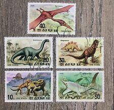 Vintage Korea Set  Of 5 Stamps Dinosaurs 1991