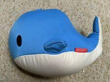 Kikkerland Soft Travel Neck Pillow Zip & Flip Blue Whale