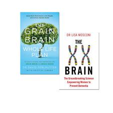 The XX Brain  & The Grain Brain Whole Life Plan  2 Books Collection Set PB NEW